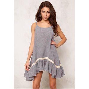 One Teaspoon Maple Linen Dress Ochre Size XS